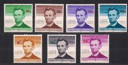 Rwanda 1965 OCBnr. 92-97A *** MNH Abraham Lincoln Cote 6,50 Euro - 1962-69: Mint/hinged