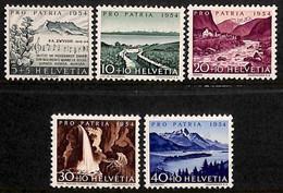 D - [205301]TB//**/Mnh-c:16e-Suisse 1954 - N° 548/52, Vues Diverses, SC, Pro Patria - Neufs