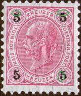 Österreich / Austria 1890, Mi. # 53,error Shown On Scan , MNH * *,as Scan - Nuevos