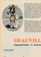 """1961 : Document, DEAUVILLE, Duc De Morny, """"L'étoile De La Plage"""", Casino, Port Des Yachts, Les Planches, Pierre Brissaud - Unclassified"""