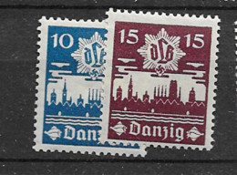 1937 MH Danzig Mi 267-68 - Dantzig