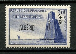 ALGERIE 1952 N° 299 ** Neuf  MNH Superbes Cote 4.44 € Bataille Bir Hakeim - Nuevos