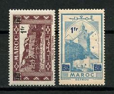 MAROC 1950 N° 296/297 * Neufs MH  Légère Trace Charnière Superbes Vallée Du DRAA Sefrou - Nuevos