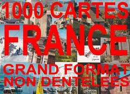 1000 Cartes Postales Semi-modernes Grand Format Non Dentelées De France - 500 Postcards Min.