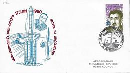 France Conseil D'Europe 1990  20 Ans De AEROSPATIALE Les Mureaux , 1  Enveloppe - Europa