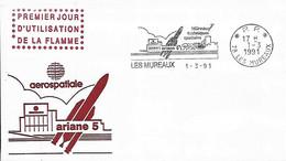 France Conseil D'Europe 1991 Ariane 5 Les Mureaux , 1  Enveloppe - Europa