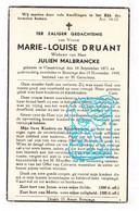 DP Marie Louise Druant ° Vlamertinge 1871 † Boezinge Ieper 1948 X Julien Malbrancke - Santini