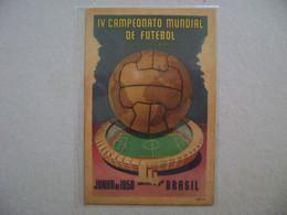 "BRAZIL / BRASIL - POST CARD IV WORLD FOOTBALL / SOCCER CHAMPIONSHIP ""MARACANA"" IN 1950 IN THE STATE - Voetbal"