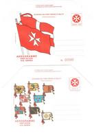 C004) SMOM AEROGRAMMI NUOVI - Malte (Ordre De)