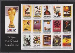 Soccer World Cup 2002 - Footbal - TUBA - Sheet MNH - 2002 – Corea Del Sur / Japón