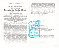 DP Marguerite Ida Delaplace ° Poperinge 1908 † Sijsele 1958 X Jozef Maelbrancke Malbrancke / Camerlynck Couttenier - Santini
