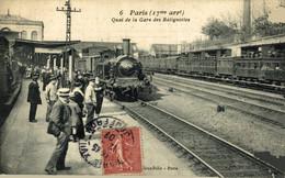 CLICHE RARE PARIS - QUAI DE LA GARE DES BATIGNOLLES - Paris (17)