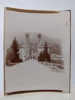 Haute Savoie. Pont Suspendu De La Caille. 1904. 8.5x11.5 Cm - Lieux