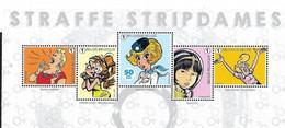 Belg. 2021 - Straffe Stripdames ( Bovenste Helft Van Het Vel) 5 Zegels Postfris - MNH - Nuevos