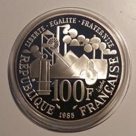 100 Francs Argent 1985 Germinal - Belle Épreuve BE Avec Certificat Et Coffret Monnaie De Paris - Tirage 5000 Ex. - N. 100 Francs