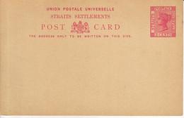 STRAITS SETTLEMENTS   Ganzsache Postkarte Postal Stationary  Postcard 3 Cents  Ungebraucht  Unused - Straits Settlements