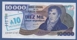 ARGENTINA - P.  322d – 10 Australes  ND (1985) AUNC- Serie 18.839.174C - Argentina