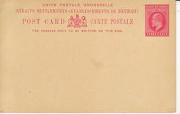STRAITS SETTLEMENTS   Ganzsache Postkarte    Postal Stationary Postcard Three Cents Ungebraucht  Unused - Straits Settlements