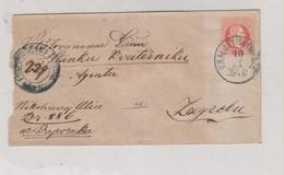 CROATIA AUSTRIA HUNGARY 1870 KRALJEVICA Via FIUME RIJEKA Registered Cover To Zagreb 1x5 Kr 2x3 Kr 2x2 Kr - Croacia