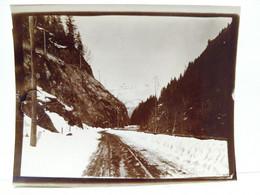 Haute Savoie. Route De Chamonix. 1904. 9x12 Cm - Lieux