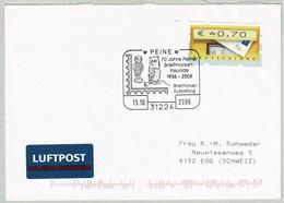 Deutschland 2006, Brief Briefmarken-Ausstellung Peine - Egg (Schweiz), ATM - Eulenvögel