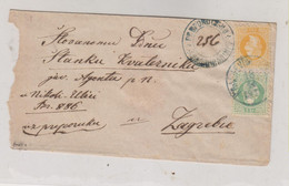 CROATIA AUSTRIA HUNGARY 1870 KRALJEVICA Via FIUME RIJEKA Registered Cover To Zagreb  3x3 Kr 3x2 Kr - Croacia