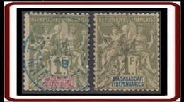 Madagascar 1889-1906 - N° 40 & 41 (YT) N° 40 & 41 (AM) Oblitérés. - Gebraucht