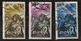Espagne 1956 N° Y&T : 878,880 Et 881 Obl. - 1951-60 Gebraucht