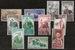 Espagne 1960 N° Y&T : 943 à 954 Obl. - 1951-60 Gebraucht