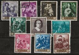 Espagne 1960 N° Y&T : 955 à 964 Obl. - 1951-60 Gebraucht