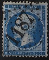 22a Obl GC 1187 Courseulles-sur-mer (13 Calvados ) Ind 5 ; Frappe Très Nette Et Centrée - 1849-1876: Periodo Classico