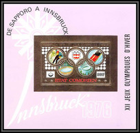85721 BF N°28 B Innsbruck 1976 Jeux Olympiques Olympic Games Comores Etat Comorien OR Gold ** MNH Non Dentelé Imperf - Invierno 1976: Innsbruck