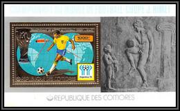 85722a N°123 A Football Soccer Argentina 1978 Rimet Comores Comoros Timbres OR Gold Stamps ** MNH - Komoren (1975-...)