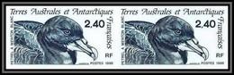 89977f/ Terres Australes Taaf N°204 Pétrel Oiseaux (birds) Non Dentelé Imperf ** MNH Paire - Geschnitten, Drukprobe Und Abarten
