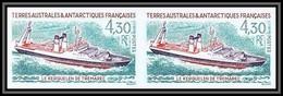 89986f/ Terres Australes Taaf N°191 Le Kerguelen Trémarec Bateau Ship Non Dentelé Imperf ** MNH Paire - Geschnitten, Drukprobe Und Abarten