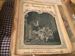 La Femme Chez Elle FRANCOIS TEDESCO Paris  Planche à Dessin '1914 En L état - 1901-1940