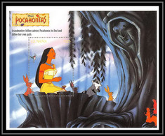 80102 Guyana Pocahontas Disney Bloc (BF) Neuf ** MNH - Guyana (1966-...)