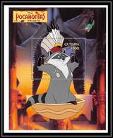 80104 Guyana Pocahontas Disney Bloc (BF) Neuf ** MNH - Disney