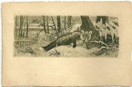 Renard Dans Sous Bois Eau Forte Animaux 1902 - Andere