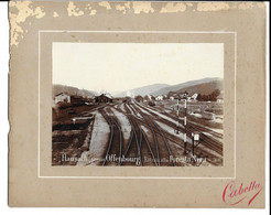 """OLD PHOTO OF """"HAUSACH"""" AT OFFENBOURG, RAILWAY STOP, ENTRANCE TO THE BLACK FOREST, 1896. - Hausach"""