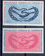 Cameroun 272 Non Dentelé Imperf ** Mnh PA N° 68 + N° 404 ONU Nations Unies (uno - United Nations) - Cameroon (1960-...)