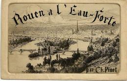76 Cpa Rouen à L 'eau Forte (eau Forte De La Pochette) Pinet Charles - Rouen