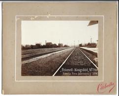 "OLD PHOTO OF "" PETERZELL- KONIGSFELD "" , RAILWAY STATION , THE BLACK FOREST, 1896. - Freiburg I. Br."