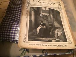 La Femme Chez Elle FRANCOIS TEDESCO Paris  Planche à Dessin '1915 En L état - 1901-1940