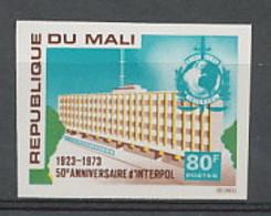 Mali 079 Non Dentelé Imperf ** Mnh N° 204 Interpol - Mali (1959-...)