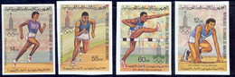 Mauritanie 029 N°425/428 Non Dentelé Imperf Jeux Olympiques Olympic Games Moscou 80 MNH ** - Summer 1980: Moscow