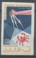 Mauritanie 040 PA N°46 Non Dentelé Imperf Lutte Contre Le Cancer (crabe) 1965 MNH ** - Crustaceans