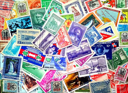 Dominicana, 100 Used Stamps. (589c) - Dominikanische Rep.
