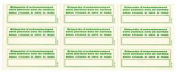 Document Interne La Poste Etiquette CP42 Acheminement Colis Postaux Voie De Surface  .Feuille De 6 étiquettes - Documents Of Postal Services