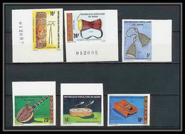 Bénin Dahomey 046 Michel N°214/219 Instruments De Musique (music) Non Dentelé Imperf Neuf** - Benin - Dahomey (1960-...)